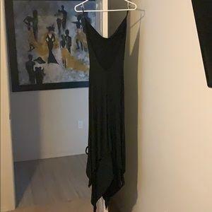 bebe Dresses - Asymmetrical backless black Bebe dress